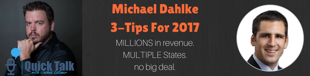 Michael has an interesting story because of the extremely rapid amount of growth his business experienced over the last few years.
