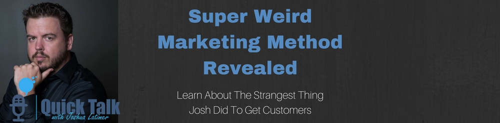 Super Weird Marketing Method Revealed